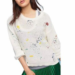 Mo:Vint Anthropologie Paint Splatter Sweater